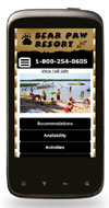 Mobile Website Design - Bear Paw Resort - Image