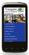 Mobile Website Design - Voyagaire Lodge & Houseboats - Image