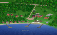 3-D Resort Map - Cedar Rapids Lodge - Image