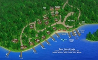 3-D Resort Map - Timber Wolf Lodge - Image