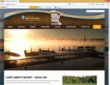 Website Design - Camp Liberty Resort- Image