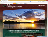 Website Design - Pine of Kabetogama Resort - Image